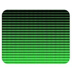 Neon Green And Black Halftone Copy Double Sided Flano Blanket (medium)  by Jojostore