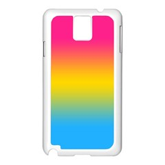 Pink Orange Green Blue Samsung Galaxy Note 3 N9005 Case (white) by Jojostore
