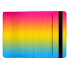 Pink Orange Green Blue Samsung Galaxy Tab Pro 12 2  Flip Case by Jojostore