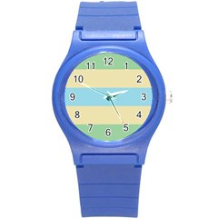 Romantic Flags Copy Round Plastic Sport Watch (s)