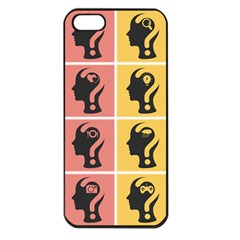 Question Face Think Apple Iphone 5 Seamless Case (black)