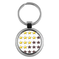 Star Rating Copy Key Chains (round)
