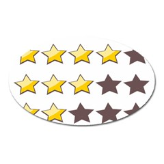 Star Rating Copy Oval Magnet