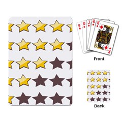 Star Rating Copy Playing Card by Jojostore