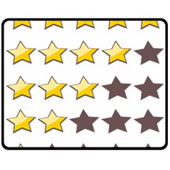 Star Rating Copy Fleece Blanket (medium)  by Jojostore