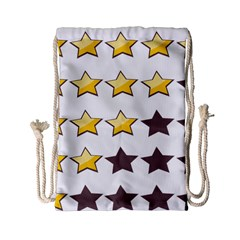 Star Rating Copy Drawstring Bag (small) by Jojostore