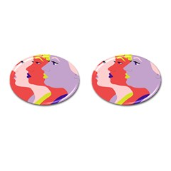 Three Beautiful Face Copy Cufflinks (oval) by Jojostore