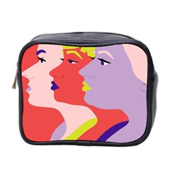 Three Beautiful Face Copy Mini Toiletries Bag 2 Side