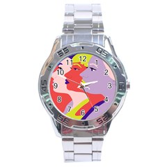 Three Beautiful Face Copy Stainless Steel Analogue Watch by Jojostore