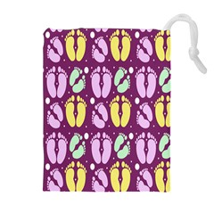 Soles Of The Feet Drawstring Pouches (extra Large)
