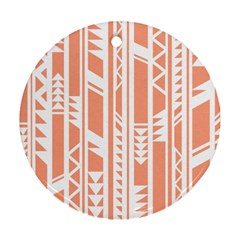 Tribal Pattern Round Ornament (two Sides)  by Jojostore