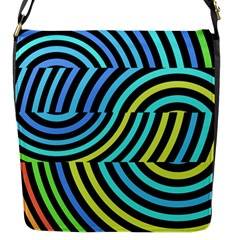 Twin Tunnels Visual Illusion Casino Art Flap Messenger Bag (s) by Jojostore