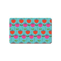 Tulips Floral Flower Magnet (name Card) by Jojostore