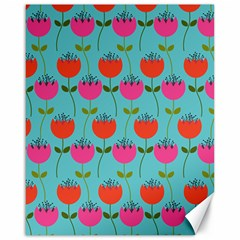Tulips Floral Flower Canvas 16  X 20   by Jojostore