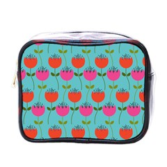 Tulips Floral Flower Mini Toiletries Bags