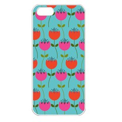 Tulips Floral Flower Apple Iphone 5 Seamless Case (white) by Jojostore