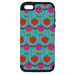 Tulips Floral Flower Apple Iphone 5 Hardshell Case (pc+silicone) by Jojostore