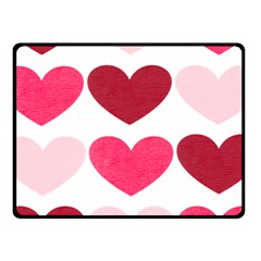 Valentine S Day Hearts Fleece Blanket (small)