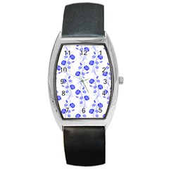 Vertical Floral Barrel Style Metal Watch by Jojostore