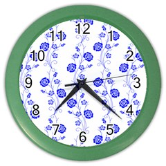 Vertical Floral Color Wall Clocks by Jojostore