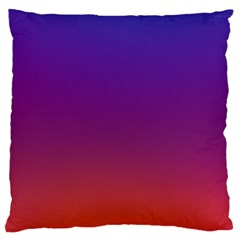 Purple Orange Blue Standard Flano Cushion Case (one Side)