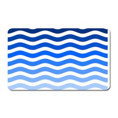 Water White Blue Line Magnet (rectangular)