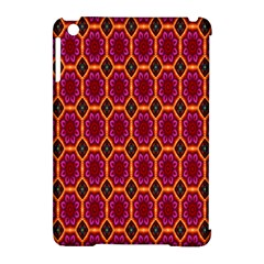 Pink Green Yellow Flower Apple Ipad Mini Hardshell Case (compatible With Smart Cover)