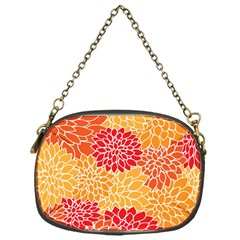 Vintage Floral Flower Red Orange Yellow Chain Purses (one Side)  by Jojostore