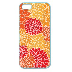 Vintage Floral Flower Red Orange Yellow Apple Seamless Iphone 5 Case (color) by Jojostore