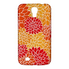 Vintage Floral Flower Red Orange Yellow Samsung Galaxy Mega 6 3  I9200 Hardshell Case by Jojostore