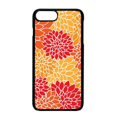 Vintage Floral Flower Red Orange Yellow Apple Iphone 7 Plus Seamless Case (black) by Jojostore