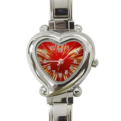 Color Gold Yellow Background Heart Italian Charm Watch