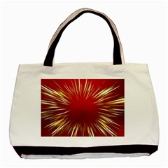 Color Gold Yellow Background Basic Tote Bag (two Sides) by Amaryn4rt