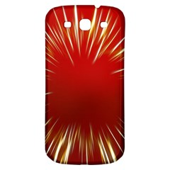 Color Gold Yellow Background Samsung Galaxy S3 S Iii Classic Hardshell Back Case by Amaryn4rt