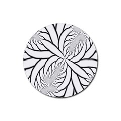Fractal Symmetry Pattern Network Rubber Round Coaster (4 Pack)  by Amaryn4rt