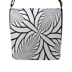 Fractal Symmetry Pattern Network Flap Messenger Bag (l)  by Amaryn4rt