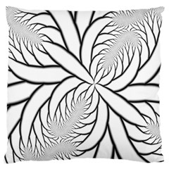 Fractal Symmetry Pattern Network Large Flano Cushion Case (one Side)