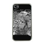 Kringel Circle Flowers Butterfly Apple iPhone 4 Case (Clear) Front