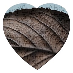 Leaf Veins Nerves Macro Closeup Jigsaw Puzzle (heart) by Amaryn4rt