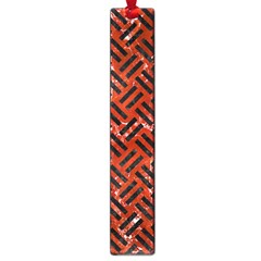 Woven2 Black Marble & Red Marble (r) Large Book Mark by trendistuff