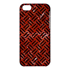 Woven2 Black Marble & Red Marble (r) Apple Iphone 5c Hardshell Case by trendistuff