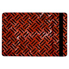 Woven2 Black Marble & Red Marble (r) Apple Ipad Air Flip Case by trendistuff