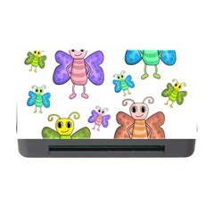 Colorful, Cartoon Style Butterflies Memory Card Reader With Cf by Valentinaart
