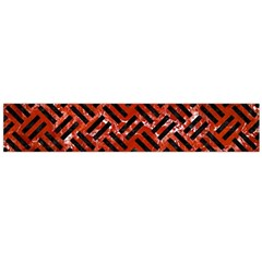 Woven2 Black Marble & Red Marble (r) Flano Scarf (large) by trendistuff