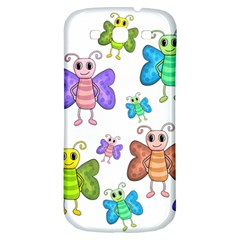 Colorful, Cartoon Style Butterflies Samsung Galaxy S3 S Iii Classic Hardshell Back Case