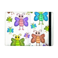 Colorful, Cartoon Style Butterflies Ipad Mini 2 Flip Cases by Valentinaart