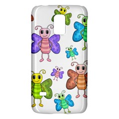 Colorful, Cartoon Style Butterflies Galaxy S5 Mini by Valentinaart