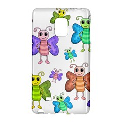 Colorful, Cartoon Style Butterflies Galaxy Note Edge by Valentinaart