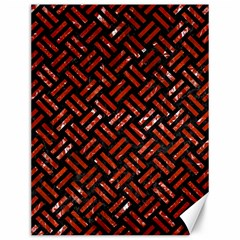 Woven2 Black Marble & Red Marble Canvas 12  X 16  by trendistuff