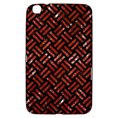 Woven2 Black Marble & Red Marble Samsung Galaxy Tab 3 (8 ) T3100 Hardshell Case  by trendistuff